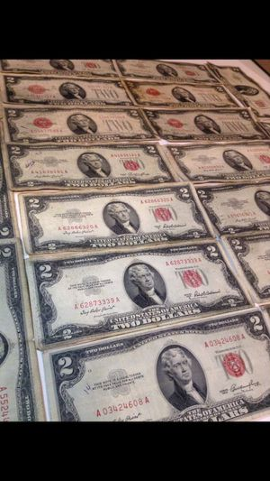 20 Old Rare US 1928 & 1953 Two Dollar Bills— ALL with scarce Red Seals- 3 Error Bills Included- Valuable Huge Collection! for Sale in Reston, VA