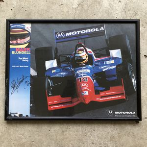 1997 Mark Blundell racing authentic autographed framed print for Sale in Dallas, TX