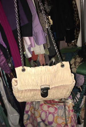 Prada Gaffre Nappa creme shoulder bag EUC for Sale in Stayton, OR