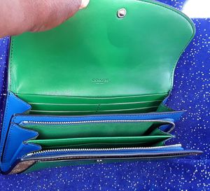 """Save$200! .""""COACH""""leather wallet bNew /tags leather Wallet Green/Blue/Tan for Sale in Torrance, CA"""