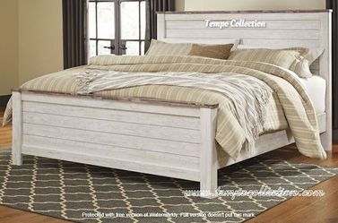 NEW IN THE BOX. STYLISH QUEEN PANEL BED, SKU# TCB267-57-54-98 for Sale in Huntington Beach,  CA