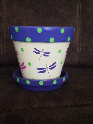 Arita Dragonfly Flower pot for Sale in Atlanta, GA