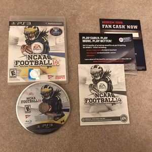 NCAA Football 14 Playstation 3 ps3 rare video game disc case manual complete for Sale in Burtonsville, MD