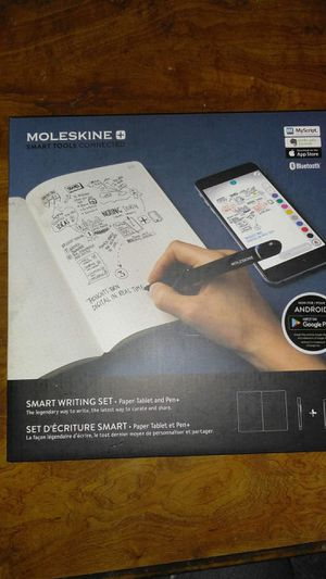 Moleskin smart writing set. Digital writing set with pen+. New in box. for Sale in Canton, IL