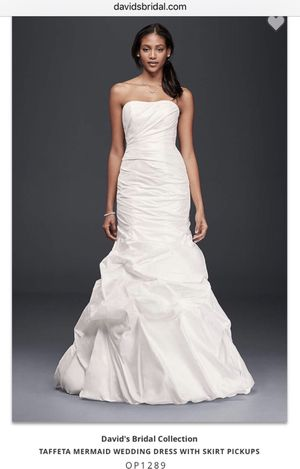 New with tags Wedding Dress - Taffeta Mermaid style: Size 8/10 for Sale in Germantown, MD
