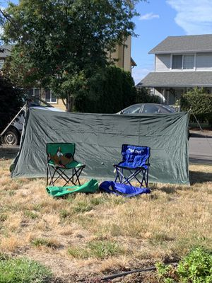 Two man pup tent and two child camping chairs. for Sale in Vancouver, WA