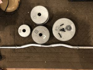 EZ Curl Bar with Weights for Sale in SeaTac, WA