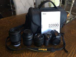 Nikon 3100 camera and lenses for Sale in Renton, WA