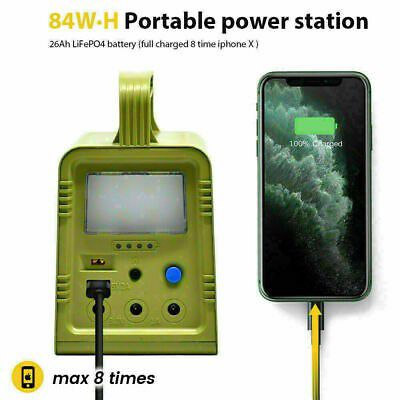 Solar generator battery pack with 3 lights! New!j