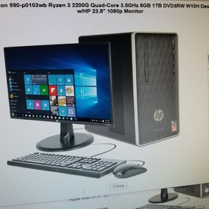 23.8' 1080P MONITOR INCLUDED. COMPLETE DESKTOP HP PAVILION 8GIGS RAM 1 TB HARD DRIVE. KEYBOARD AND MOUSE INCLUDED for Sale in Los Angeles, CA