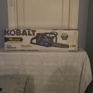 Kobalt 80-volt Lithium Ion 18-in Brushless Cordless Electric Chainsaw Kit New for Sale in Nicholasville, KY