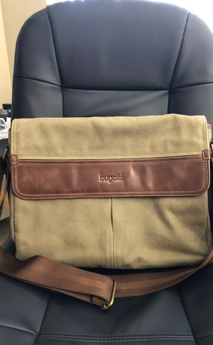 Bugatti canvas leather messenger bag for Sale in Beverly Hills, CA