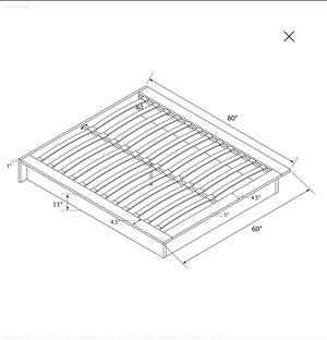 DHP Maven Upholstered Platform Bed, King Size Frame, Gray Linen for Sale in Richmond, VA