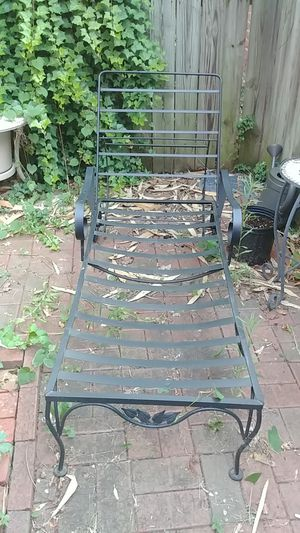 (2) Wrought Iron Patio Lounge Chairs for Sale in Richmond, VA