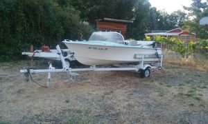 Boat without motor baby blue and white for Sale in Jacksonville, OR