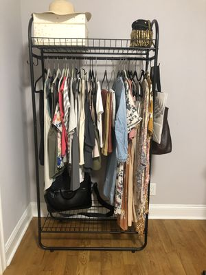 Industrial Matte Black Iron Clothing Rack for Sale in New York, NY