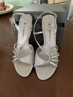 Silver evening shoes for Sale in Aliso Viejo, CA