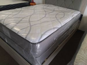 "New GRAY 10"" orthopedic Queen mattress set FRAME SOLD SEPARATELY for Sale in Las Vegas, NV"