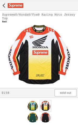 Supreme / Honda / Fox Racing Moto Jersey Top for Sale in Manassas, VA