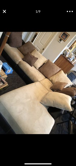Large sectional, chair, and ottoman for Sale in Potomac, MD