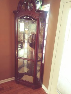 Solid wood curio for Sale in St. Louis, MO