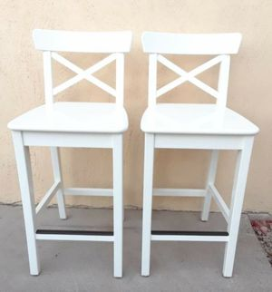 2 white bar stools for Sale in Olympia, WA
