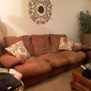 Medium Brown Couch, Loveseat and recliner for Sale in Smyrna, TN