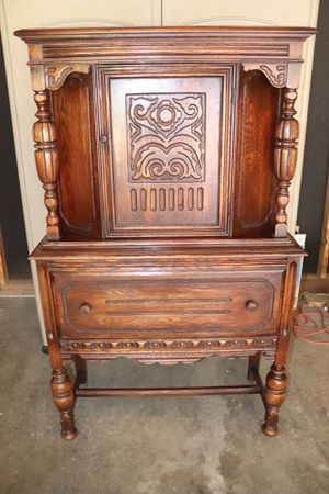 Antique Carved Oak Hutch/Cabinet for Sale in St. Louis, MO