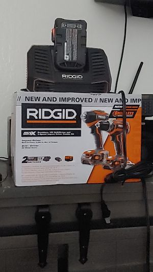 Ridgid drill and driver plus 3 batteries and rapid charger for Sale in Walnut Creek, CA