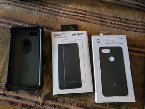 Google Pixel 3XL screen protector and to cases for Sale in Cedar Rapids, IA