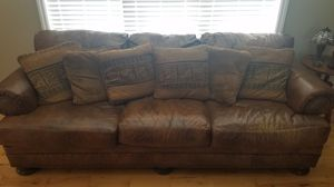 Leather couch from Levins. for Sale in Uniontown, PA