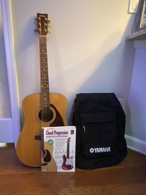 Yamaha Acoustic Guitar with Case and Book for Sale in Maitland, FL