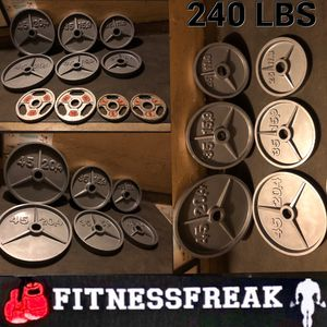 DEEP DISH 240 lb FLAWLESS OLYMPIC WEIGHT SET for Sale in El Cajon, CA