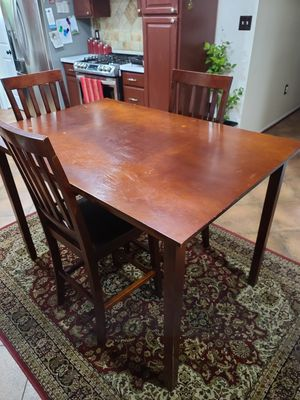 Kitchen Table with 3 Chairs Wooden for Sale in Woodbridge, VA