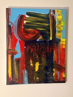 MODERN ABSTRACT ACRYLIC PAINTING ON CANVAS BY AJX DESIGN PDX -SUPPORT LOCAL ART- for Sale in Tigard, OR