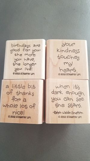 4 Stampin Up stamps with sayings for Sale in Clearwater, FL