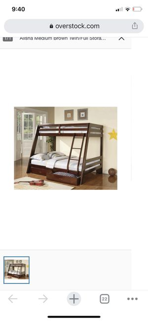 Twin over twin bunk bed-Never used in box! for Sale in West Long Branch, NJ