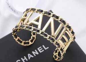 Custom made designer cuffs bracelet gold and leather for Sale in New York, NY