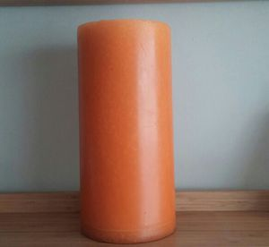 Harvest Orange Solid Round Pillar Candle*Huge*Heavyweight for Sale in Rockville, MD