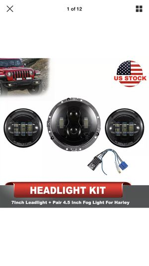7Inch 80W Daymaker LED Headlight 2Pcs 4.5Inch 60W Fog Lights for Harley Davidson for Sale in San Dimas, CA