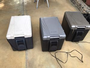 3 COLEMAN coolers.. inside fan not working.. for Sale in Ceres, CA