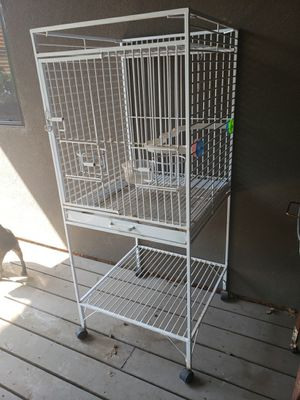 Large White Iron Birdcage for Sale in Lakeside, AZ