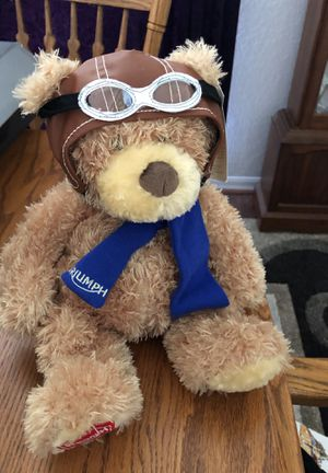 Triumph motorcycle brand teddy bear for Sale in Hudson, FL