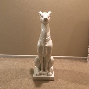 White Wooden Dog Sculpture for Sale in Irvine, CA