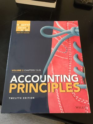 Accounting principles Volume 1 chapters 13-26 for Sale in Hercules, CA