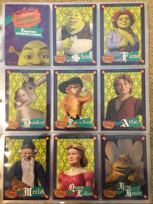 Shrek The Third Movie Trading Cards COMPLETE BASE SET, #1-72 - NM/M! for Sale in San Bruno, CA