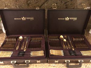 Vintage gold plated silverware set for Sale in Los Angeles, CA