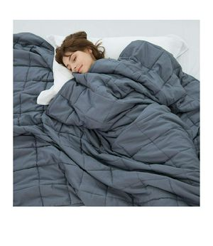 Weighted Idea Weighted Blanket 20 lbs for Adults 48''x78'' for Individual Between 180-220 lbs (100% Natural Cotton, Grey) for Sale in STEVENSON RNH, CA