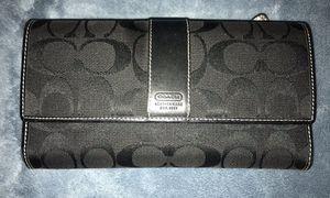 Auth Coach signature Checkbook Wallet for Sale in Lodi, NJ