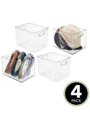 Plastic Home Storage Basket Bin with Handles for Organizing Closets, Shelves and Cabinets in Bedrooms, Bathrooms, Entryways and Hallways - 4 Pack - C for Sale in Claremont, CA